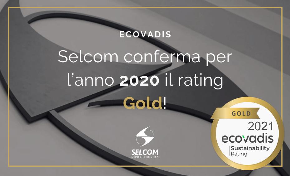 Ecovadis: Selcom conferma per l'anno 2020 il rating Gold!